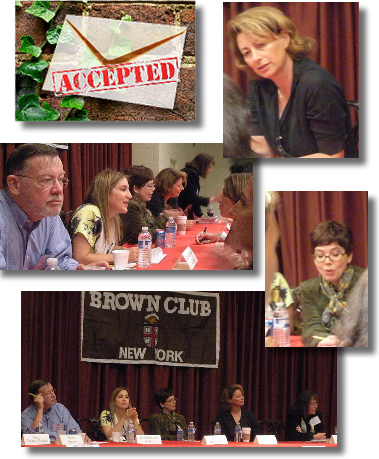 The Brown Club in New York SAT prep lecture presentation  					Karen Berlin Ishii, Kat Cohen, Dr. Katherine Cohen, IvyWise, Andrea Van Niekerk, College Goals, Elizabeth Wissner-Gross, Columbia Prep School, New York, What Colleges Don't Tell You and Other Parents 					Don't Want You to Know